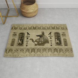 Egyptian Anubis Ornament Rug