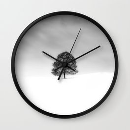 LOVE THE SIMPLICITY OF WINTER PHOTOGRAPHY THIS IS JUST A RANDOM TREE ON A RANDOM HILL IN MY HOME TOWN Wall Clock