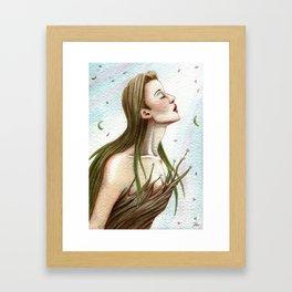 Spring Girl Gerahmter Kunstdruck
