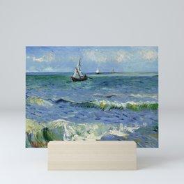 """Vincent Van Gogh """"The Sea at Les Saintes-Maries-de-la-Mer"""" Mini Art Print"""