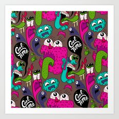 Cool Time Pattern Art Print