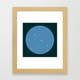 Sphere Blue Framed Art Print