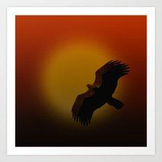 Shadow flight Art Print