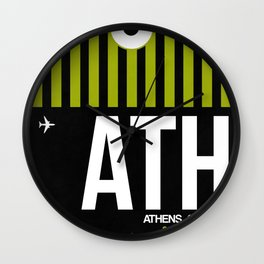 ATH Athens Luggage Tag 2 Wall Clock