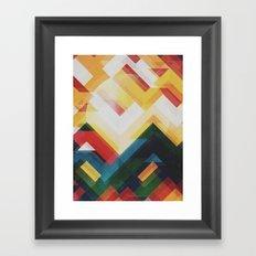 Mountain of energy Framed Art Print