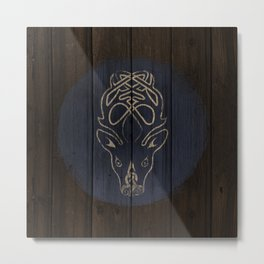 Deer Shield Metal Print