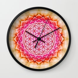 Flower Of Live - Lotos Wall Clock