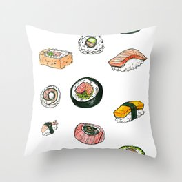 Sushi Set Throw Pillow