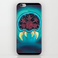 metroid iPhone & iPod Skins featuring Metroid by Katie Clark Art