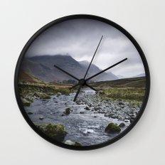 Rain clouds. Gatesgarth, Cumbria, UK. Wall Clock