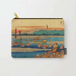 Porters Carry Travelers at Kanaya Japan Carry-All Pouch