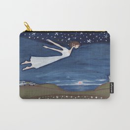 Flying Girl Remembers Her Dreams, or Night Blooming Carry-All Pouch
