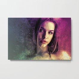Woman Portrait (Graphic Art) Metal Print