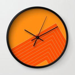 Orange Crush Range Wall Clock