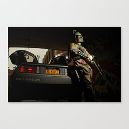 Mandalorian Delorean - Bobba Fett, Bounty Hunter  Canvas Print
