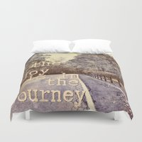 trip Duvet Covers featuring Road Trip by LebensART
