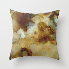 Alcohol Ink 'The Storybook Series: The Little Match Girl' Throw Pillow