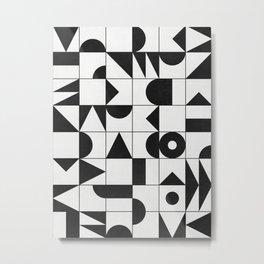 My Favorite Geometric Patterns No.10 - White Metal Print