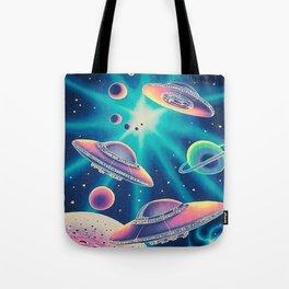 Galaxy Aliens Tote Bag