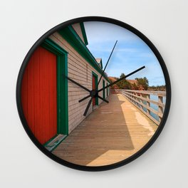 Basin Head Beach Boardwalk Wall Clock