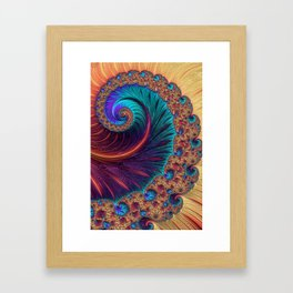 Bejewelled Spiral Framed Art Print