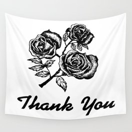 Thank You Roses Wall Tapestry