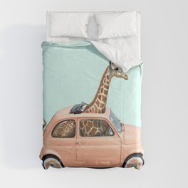GIRAFFE CAR Comforters