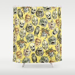 Epic Creatures (yellow) Shower Curtain