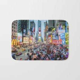 Times Square Tourists Bath Mat