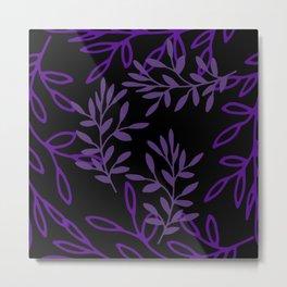 Leafy Purple Metal Print