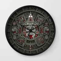 calendars Wall Clocks featuring Stone of the Sun I. by Dr. Lukas Brezak