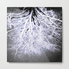 Twisted Perception gray Metal Print