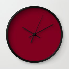 Oxblood - solid color Wall Clock