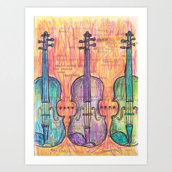 Violin, music to my ears Art Print