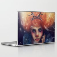 helen green Laptop & iPad Skins featuring Helen by Joan Culum