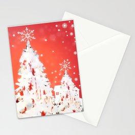 Three White Christmas Trees | Nadia Bonello Stationery Cards