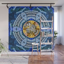 Raven Steals the Sun Pacific Northwest Coast Native Psychedelic Mandala Wall Mural