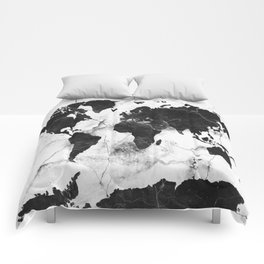 world map marble 3 Comforters