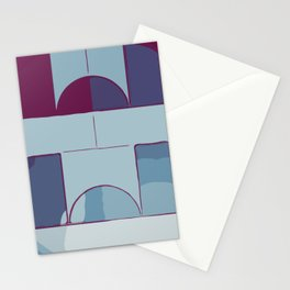 Dark Geometric 555 Stationery Cards
