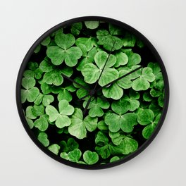 Clover Patch Wall Clock