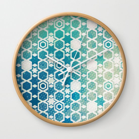 Stars Pattern #003 Wall Clock