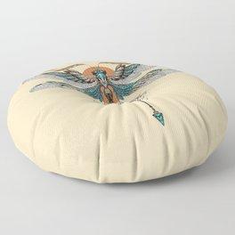 Dragonfly Tattoo Floor Pillow