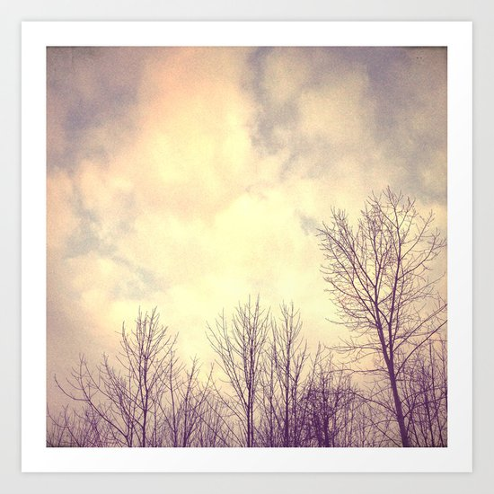 Her Bare Branches Waited for Spring Art Print