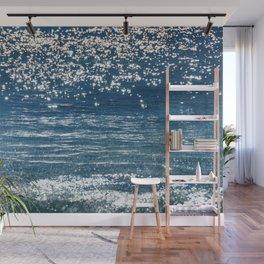 Blue Sea Sparkle Wall Mural