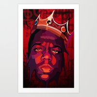 biggie smalls Art Prints featuring Biggie Smalls. by badart