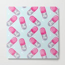 Cat pills Metal Print