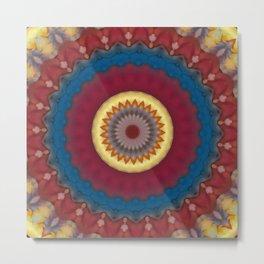 New Color Pyramidal Mandala 72 Metal Print