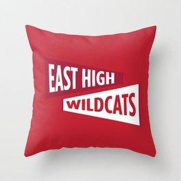 East High Wildcats Throw Pillow