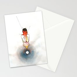The Exclamation, male nude emotional, NYC artist Stationery Cards