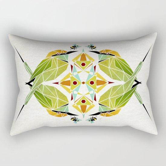 green bee eater  Rectangular Pillow